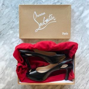New Louboutin No Prive 90 slingback heels